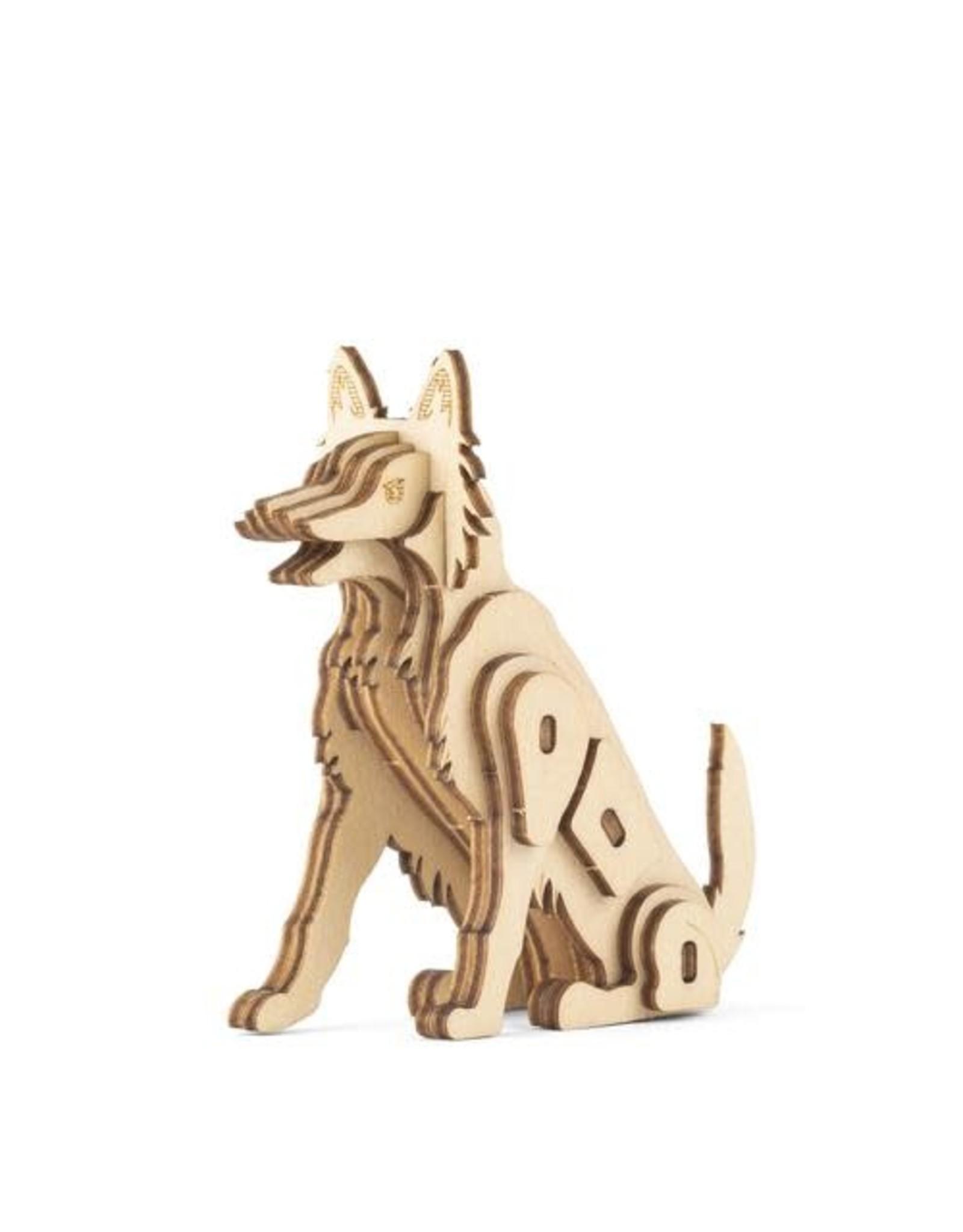 Kikkerland Dog 3D Wooden Puzzle