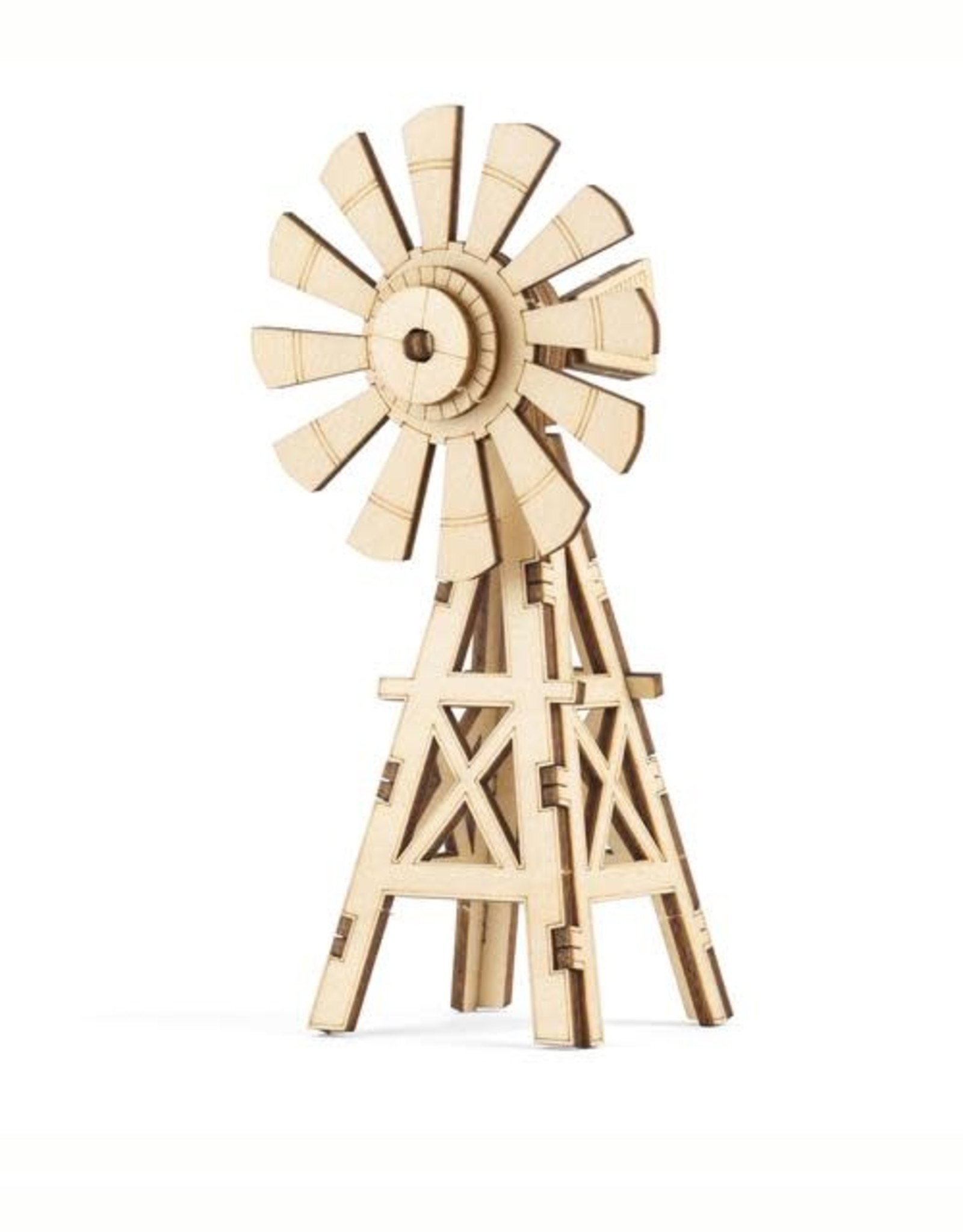 Kikkerland Windmill 3D Wooden Puzzle