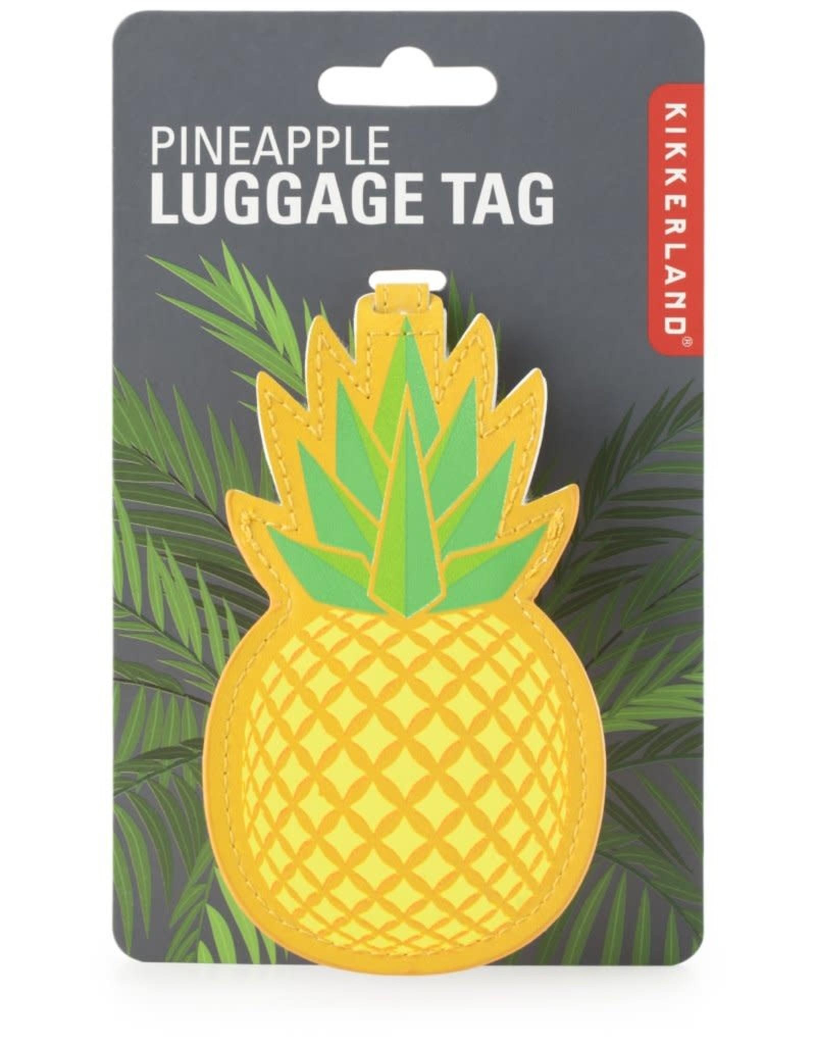 Kikkerland Luggage Tag Pineapple