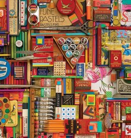Cobble Hill Vintage Art Supplies 2000pc