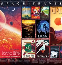 Cobble Hill Space Travel Posters 2000pc