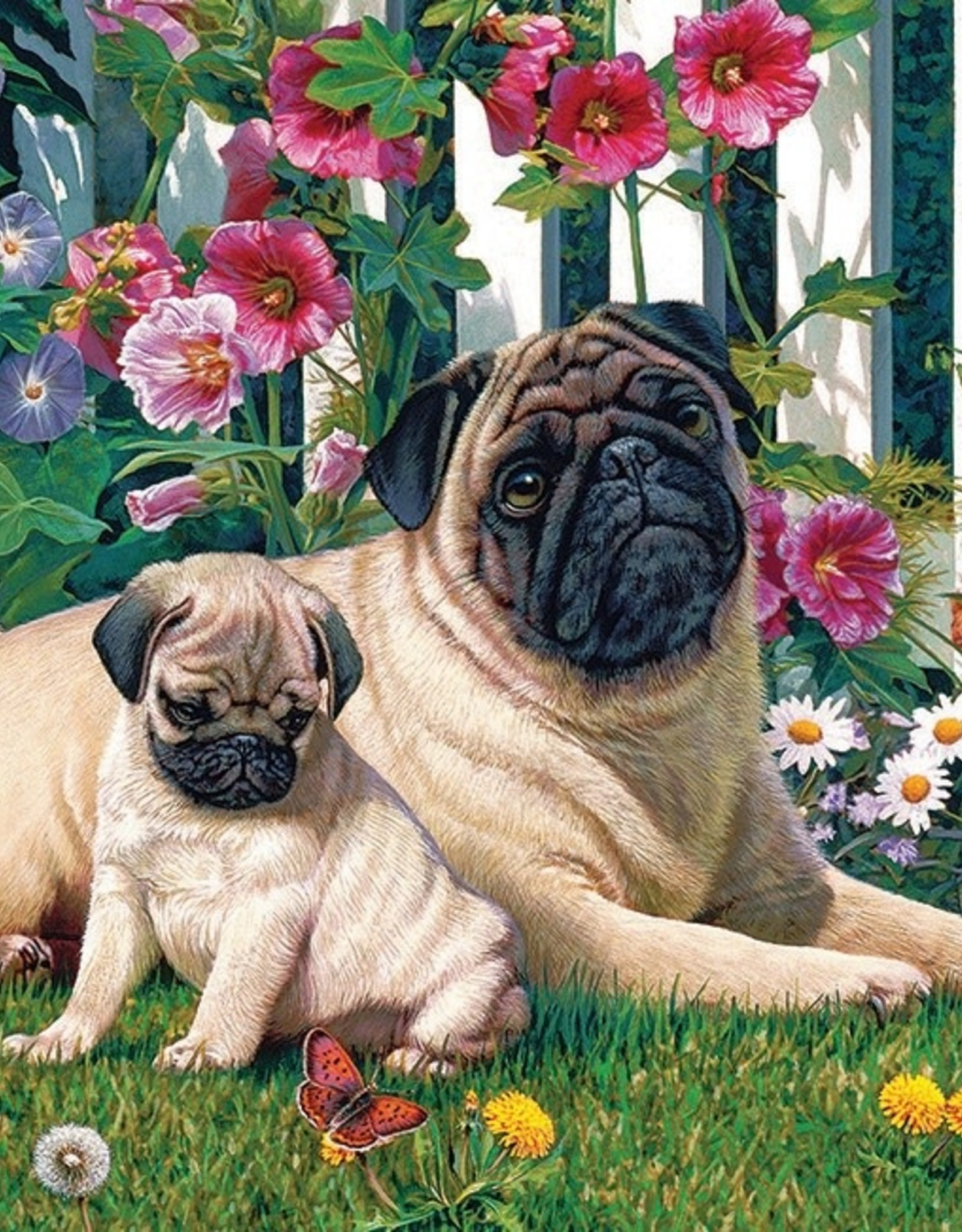 Cobble Hill Pug Family 1000pc