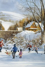 Cobble Hill Hockey on Frozen Lake 1000pc