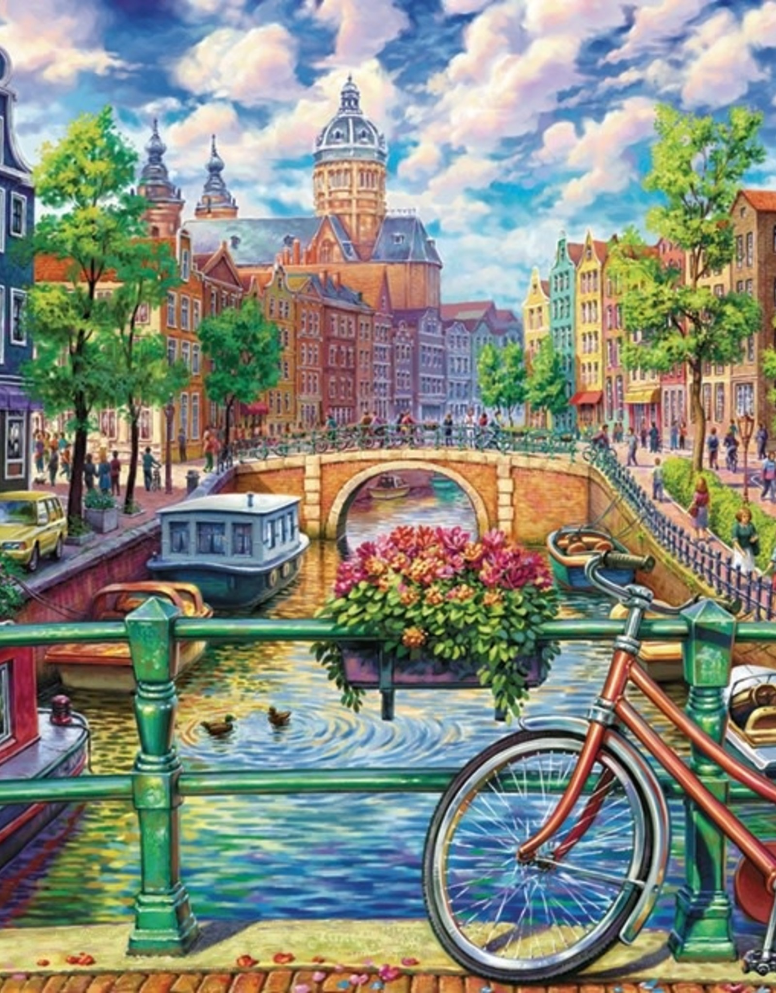 Cobble Hill Amsterdam Canal 1000pc