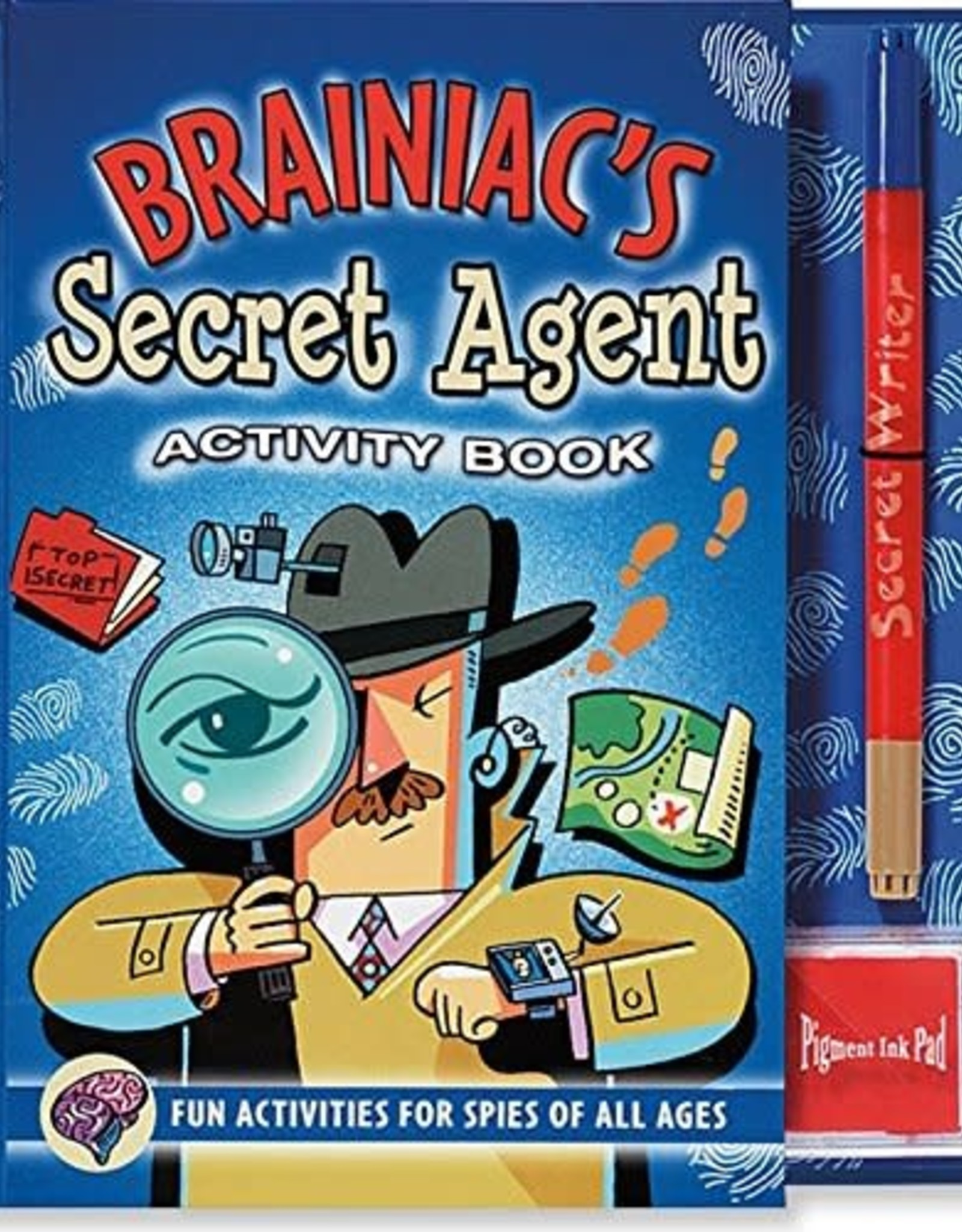 Peter Pauper Press Brainiac's Secret Agent Activity Book