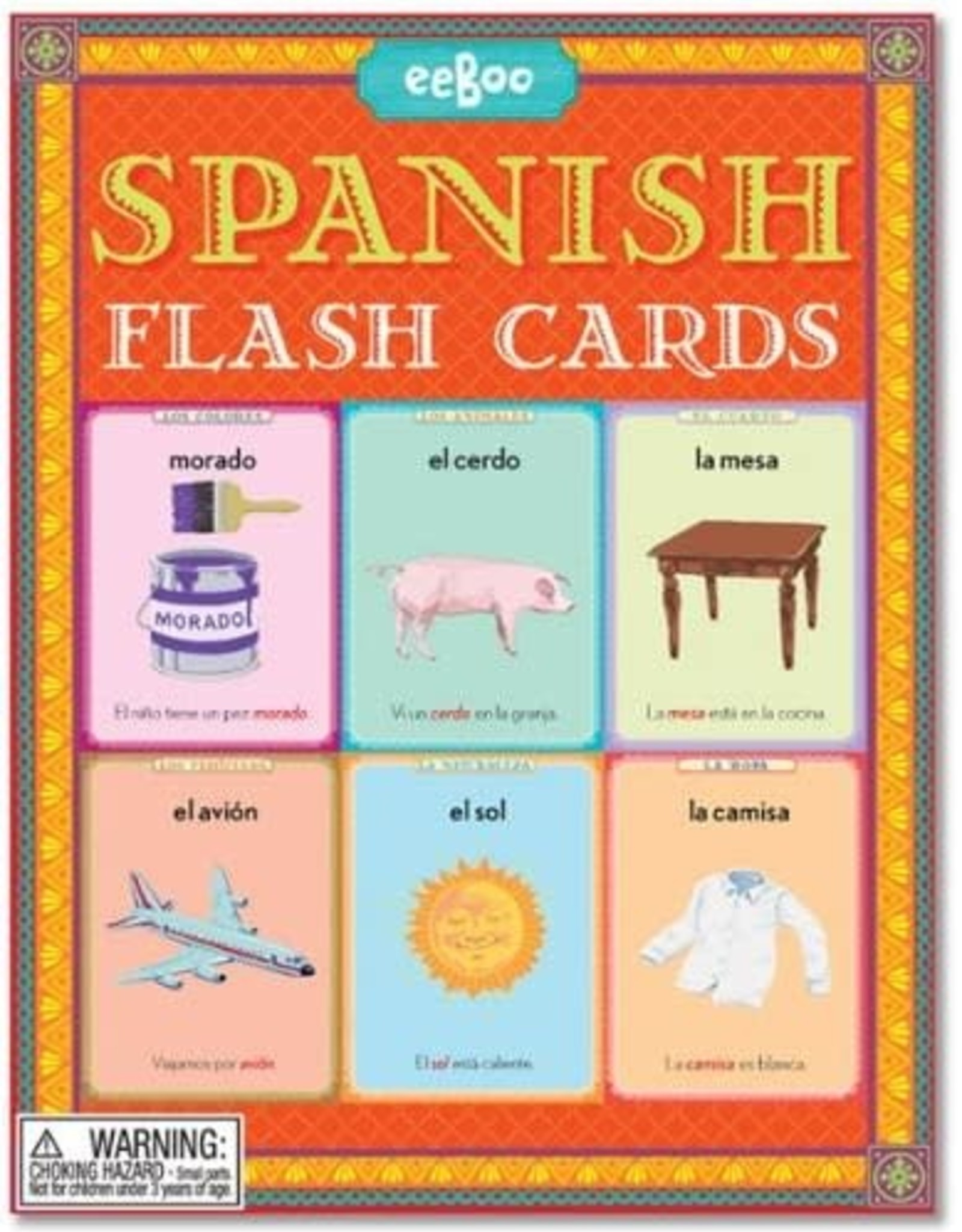eeBoo LANGUAGE FLASH CARD SPANISH