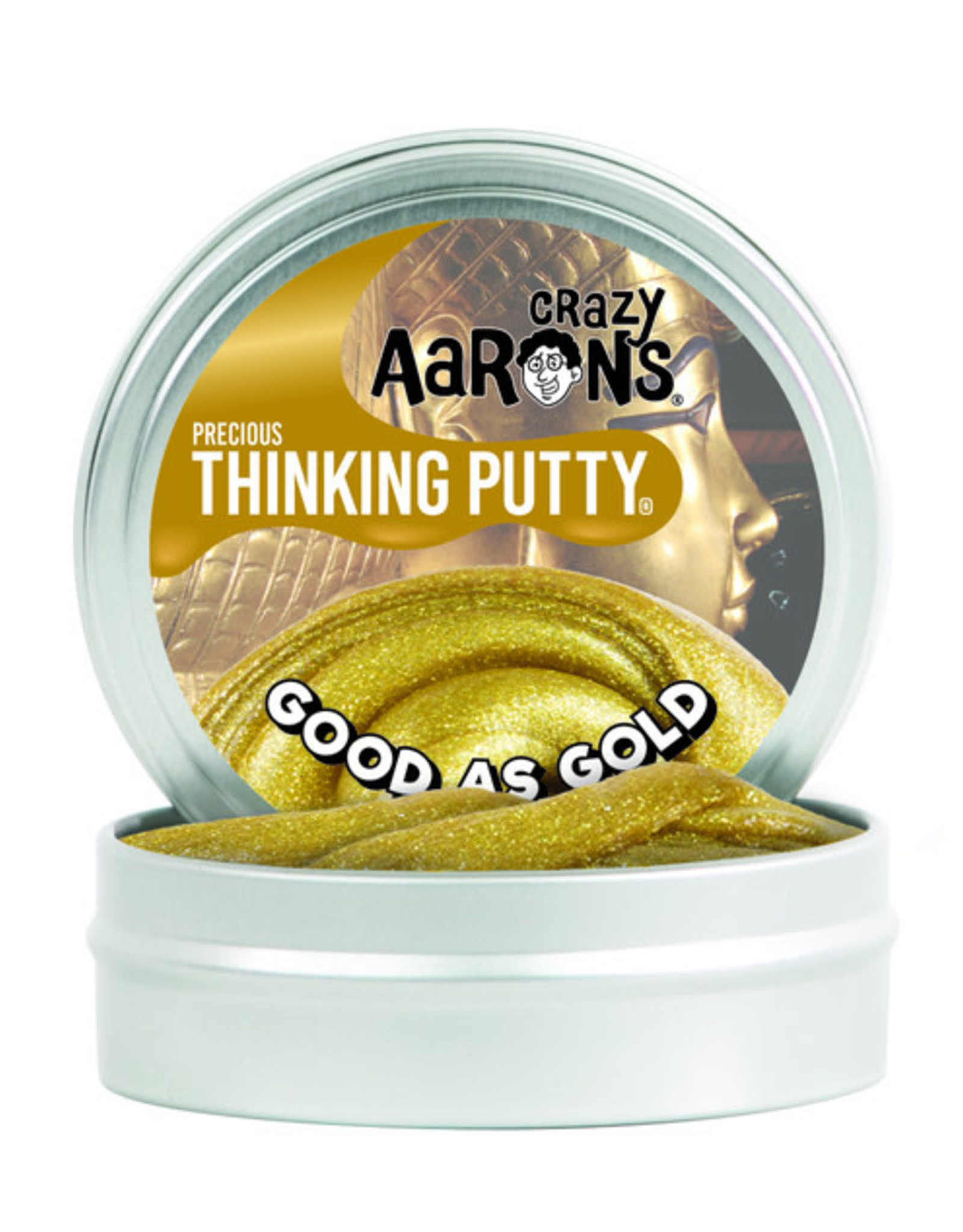 Crazy Aaron's Thinking Putty Good as Gold Glitter 3.5'' Tin
