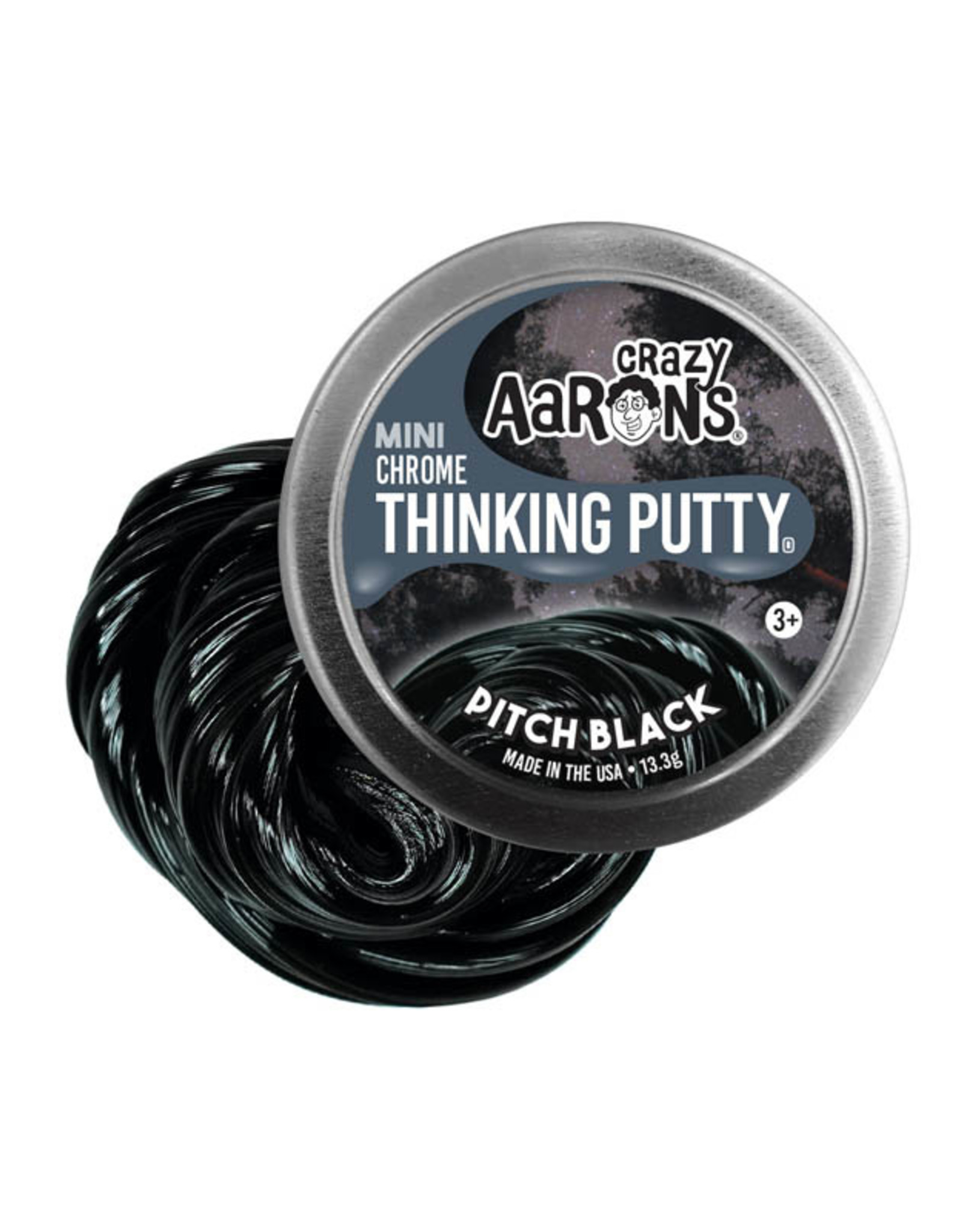 Crazy Aaron's Thinking Putty Small Tin - Pitch Black