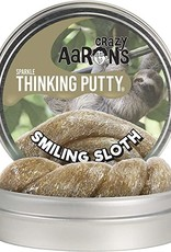 """Crazy Aaron's Thinking Putty Crazy Aaron's Sparkle Putty 4"""" Tin Smiling Sloth"""