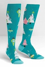 Sock It To Me KNEE HIGH FUNKY: HOLLY JOLLY CHRISTMAS