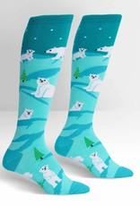 Sock It To Me KNEE HIGH FUNKY: POLAR BEAR STARE