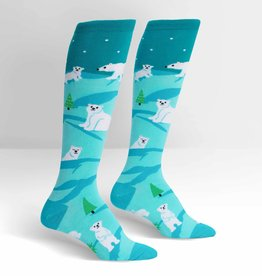 Sock It To Me KNEE HIGH FUNKY: POLAR BEAR STARE