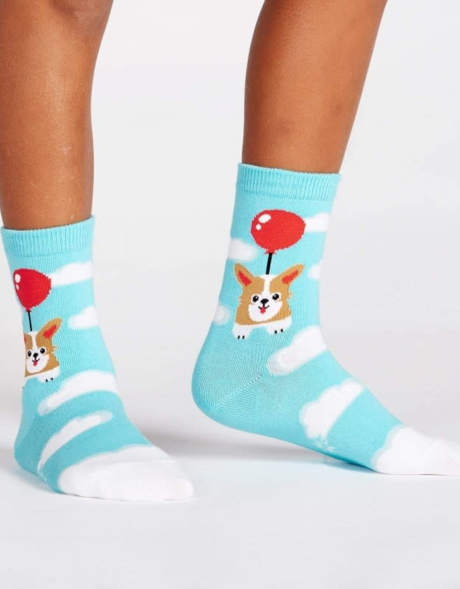 Sock It To Me JUNIOR CREW: PUP, PUP AND AWAY