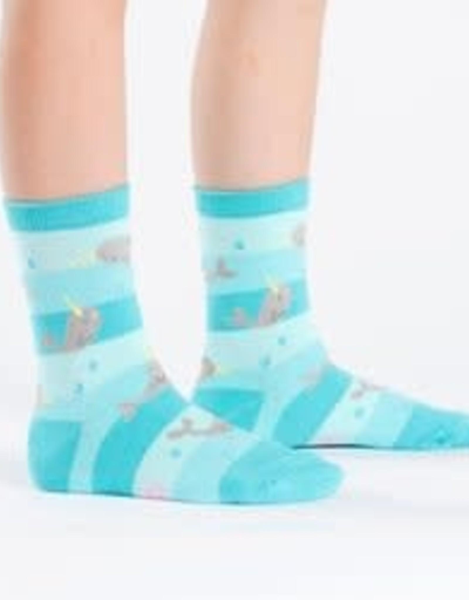 Sock It To Me JUNIORS CREW: UNICORN OF THE SEA