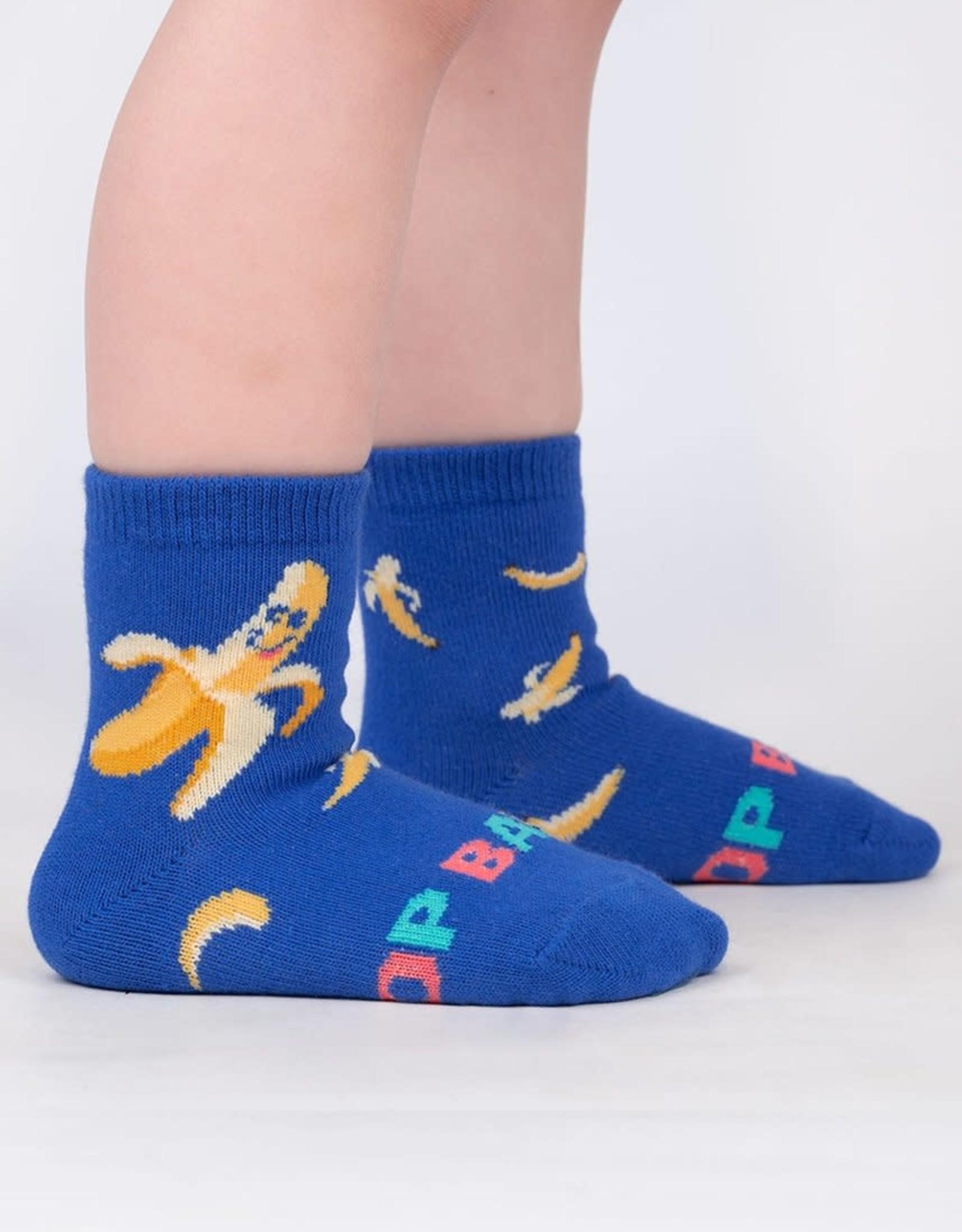 Sock It To Me TODDLER CREW: TOP BANANA (SHIMMER)