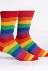 Sock It To Me MEN'S CREW: MARCH WITH PRIDE (SHIMMER)