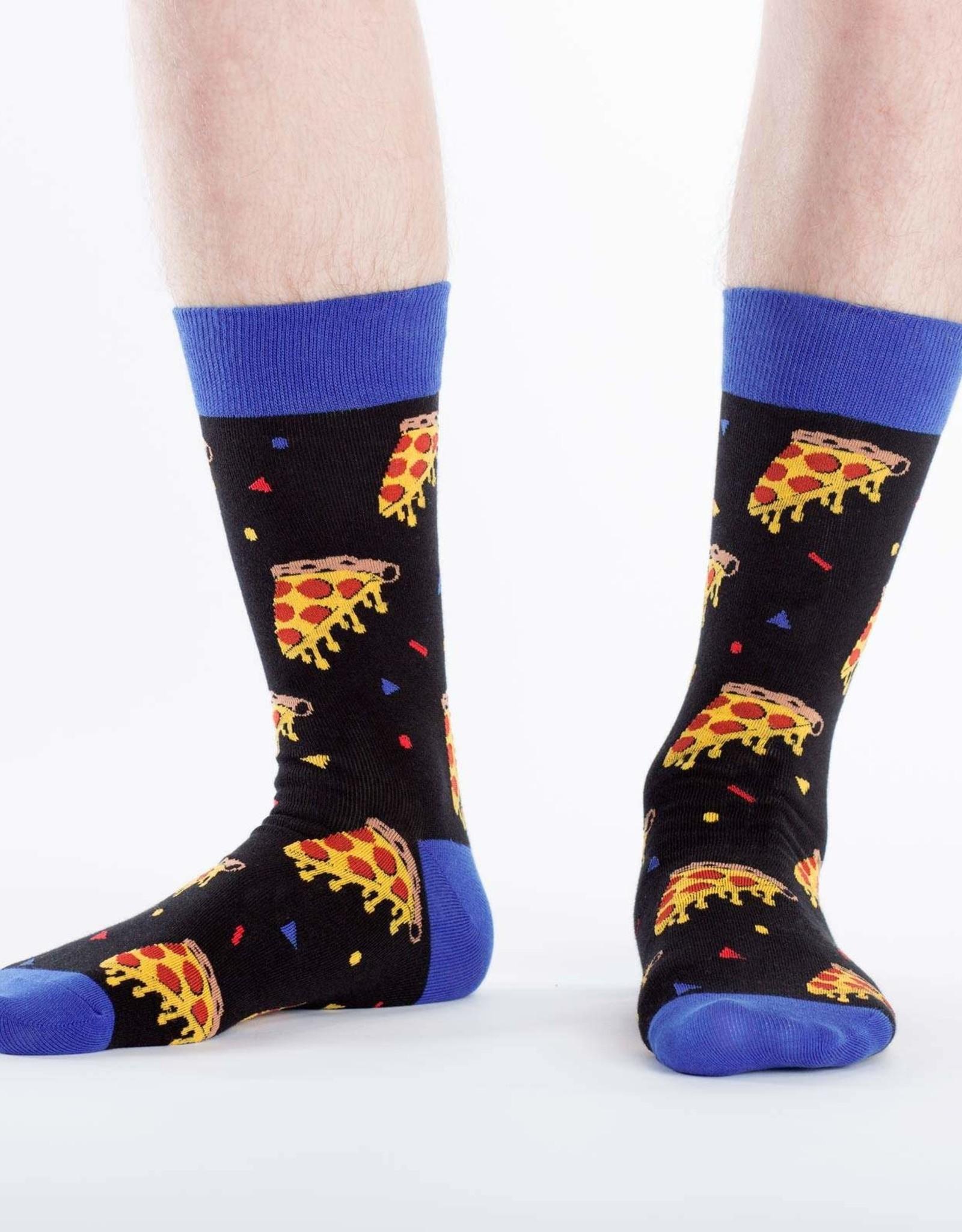Sock It To Me MEN'S CREW: PIZZA PARTY