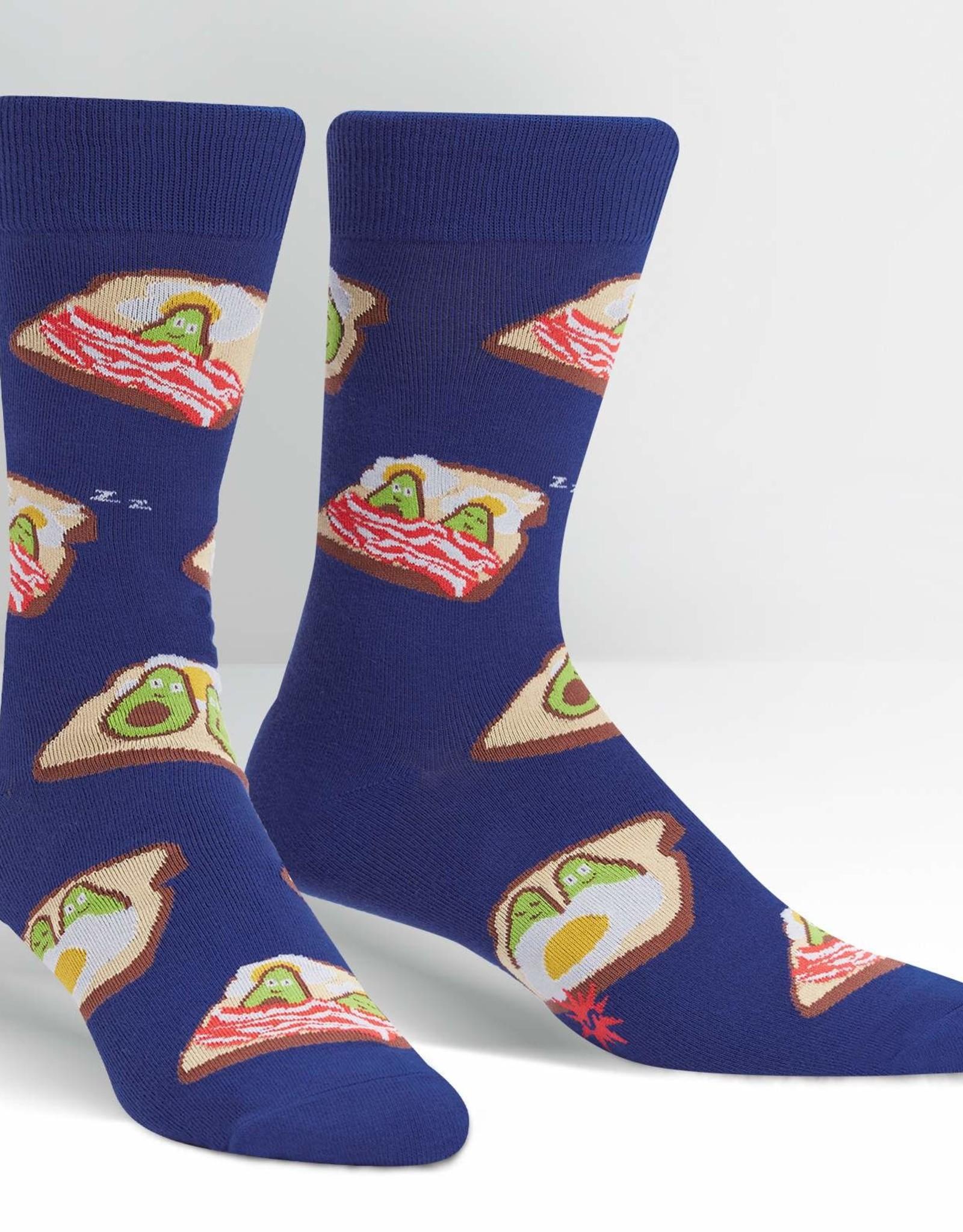 Sock It To Me MEN'S CREW: BREAKFAST IN BED