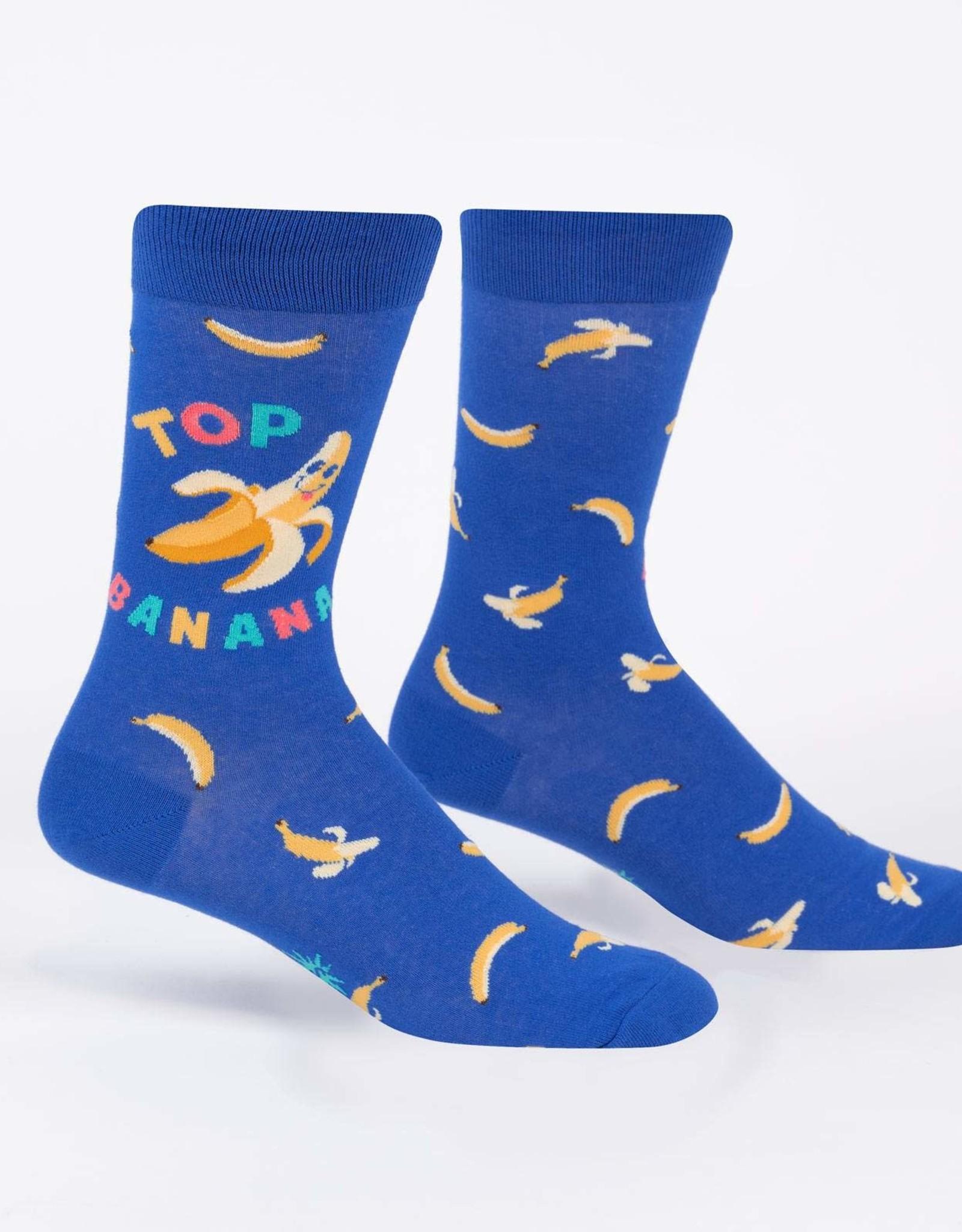 Sock It To Me MEN'S CREW: TOP BANANA