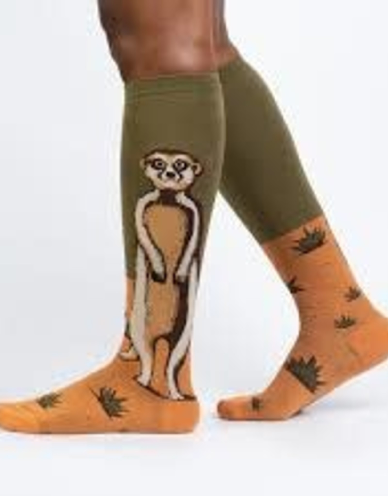 Sock It To Me KNEE HIGH FUNKY: MEERKAT MANNER