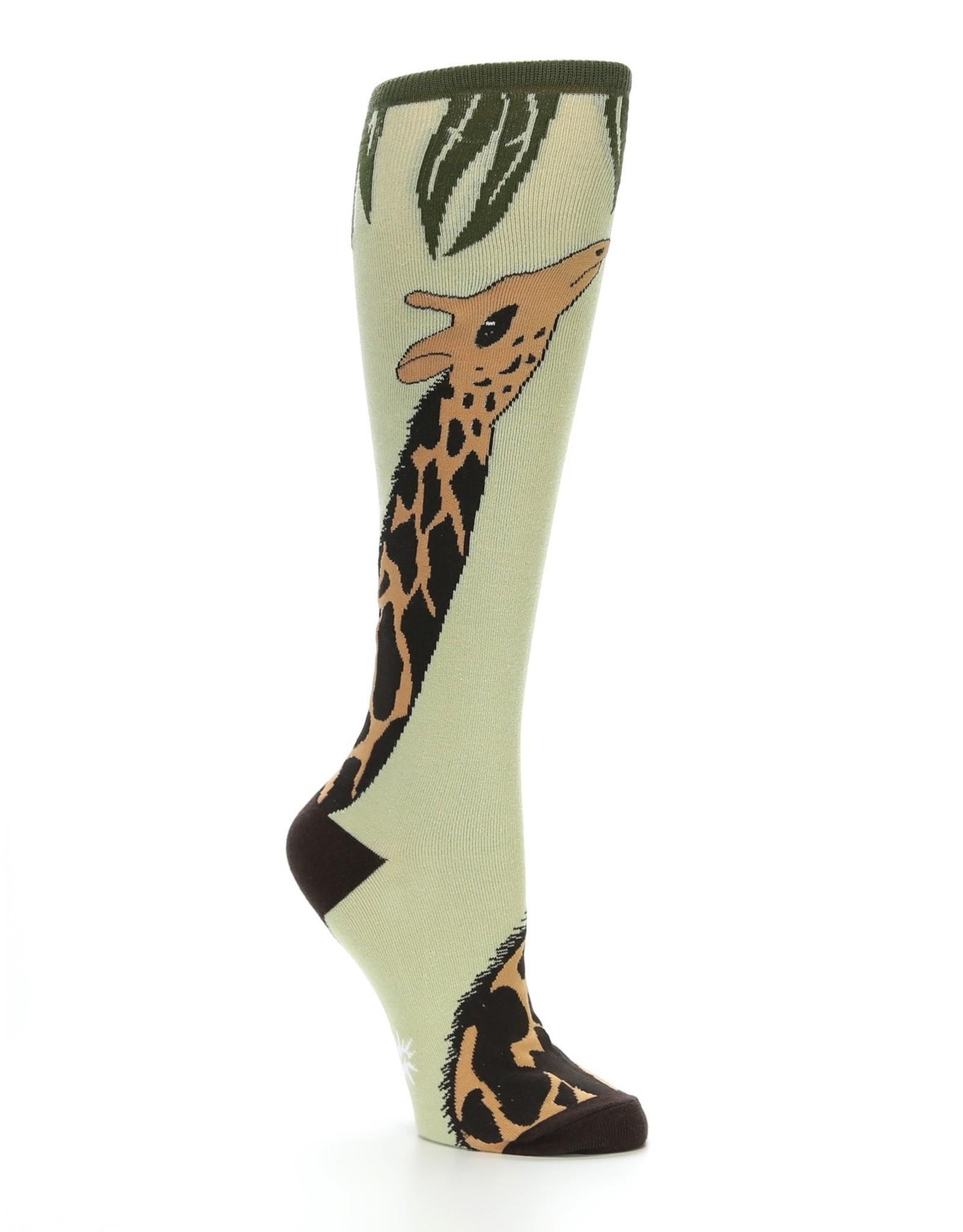 Sock It To Me WOMEN'S KNEE FUNKY: GIRAFFE