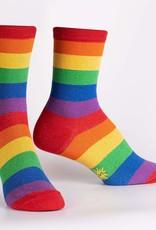 Sock It To Me WOMEN'S CREW: RADIANT RAINBOW