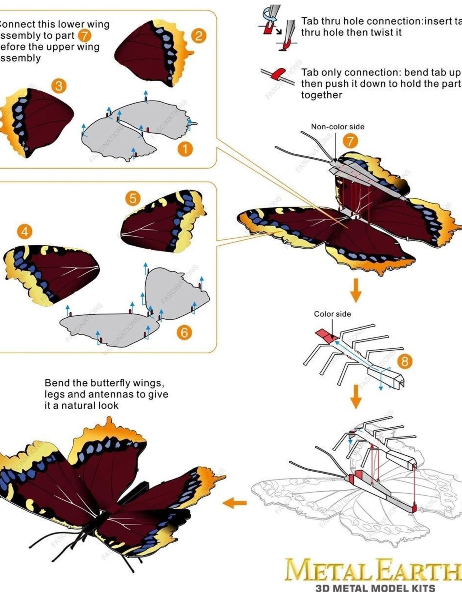 MetalEarth M.E., Mourning Cloak Butterfly, 1 sheet