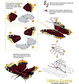 MetalEarth M.E., Mourning Cloak Butterfly, 1 sheet