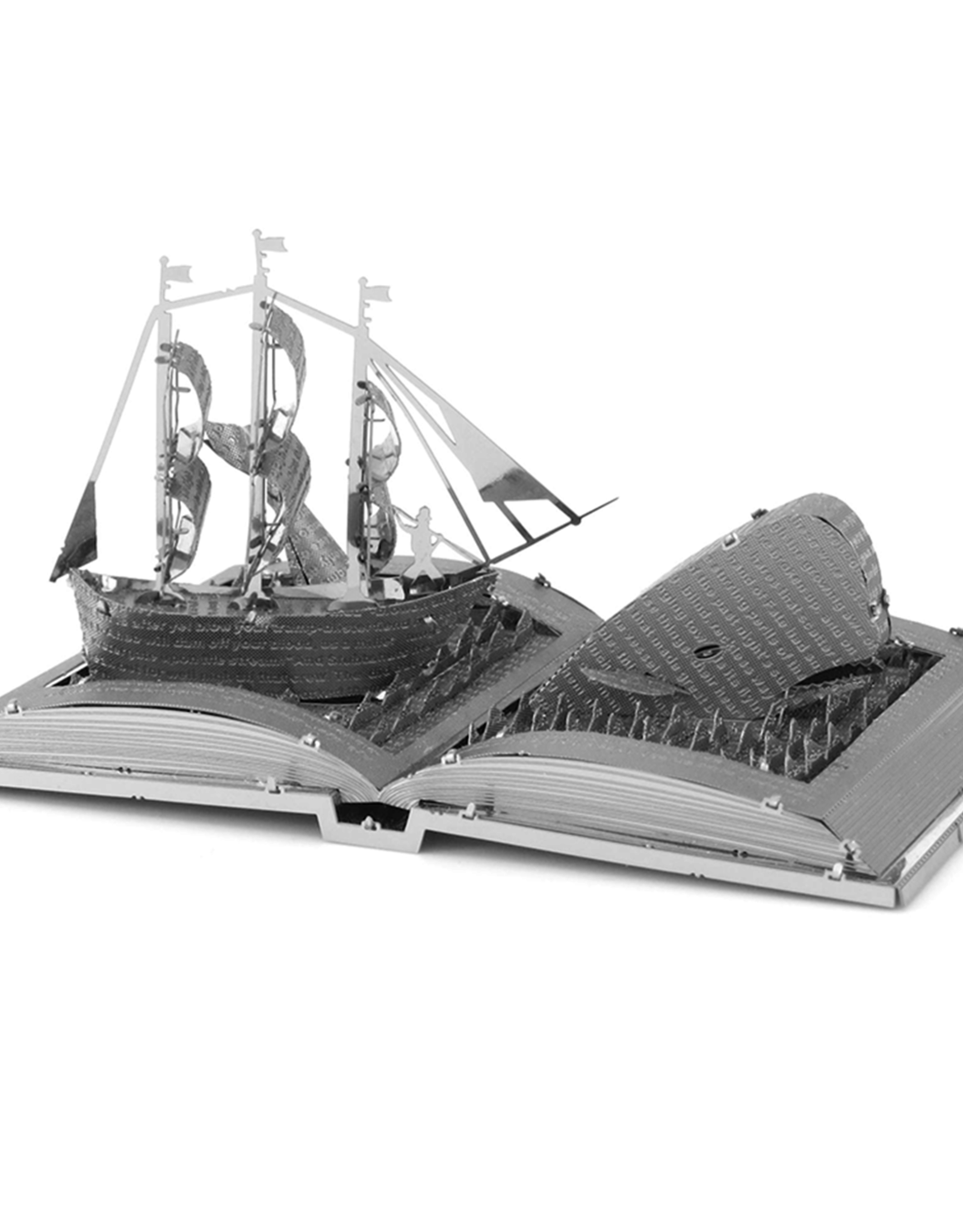 MetalEarth M.E., Moby Dick Book Sculpture