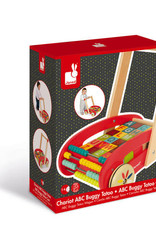 Janod Sweet Cocoon Cart with ABC Blocks