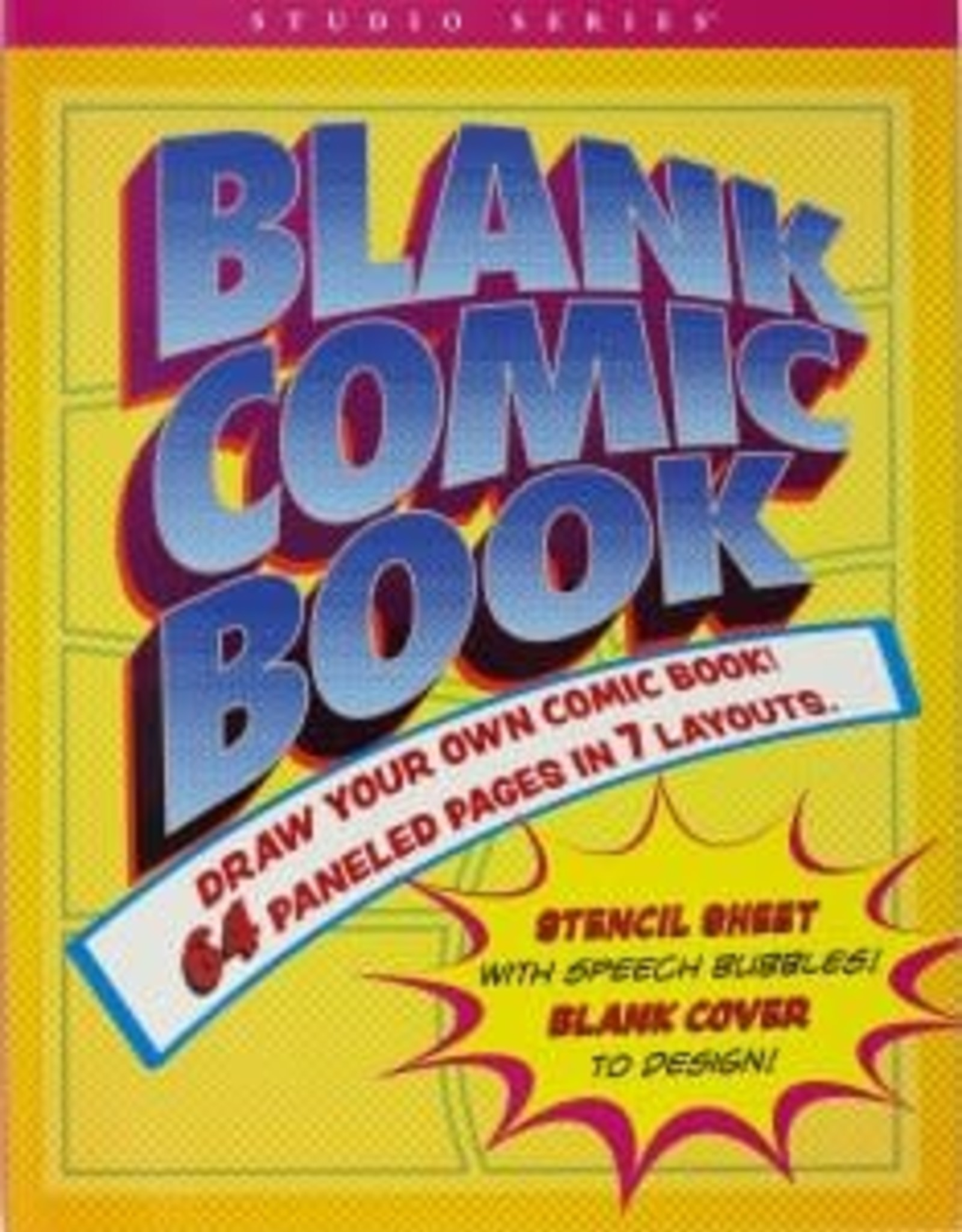 Peter Pauper Press Blank Comic Book (Stencil Included)