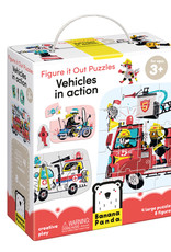 Banana Panda Figure it Out Puzzle Vehicles in Action