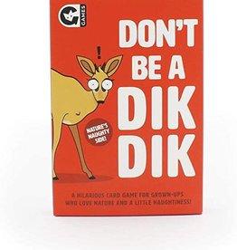Ginger Fox DONT BE A DIK DIK CARD GAME
