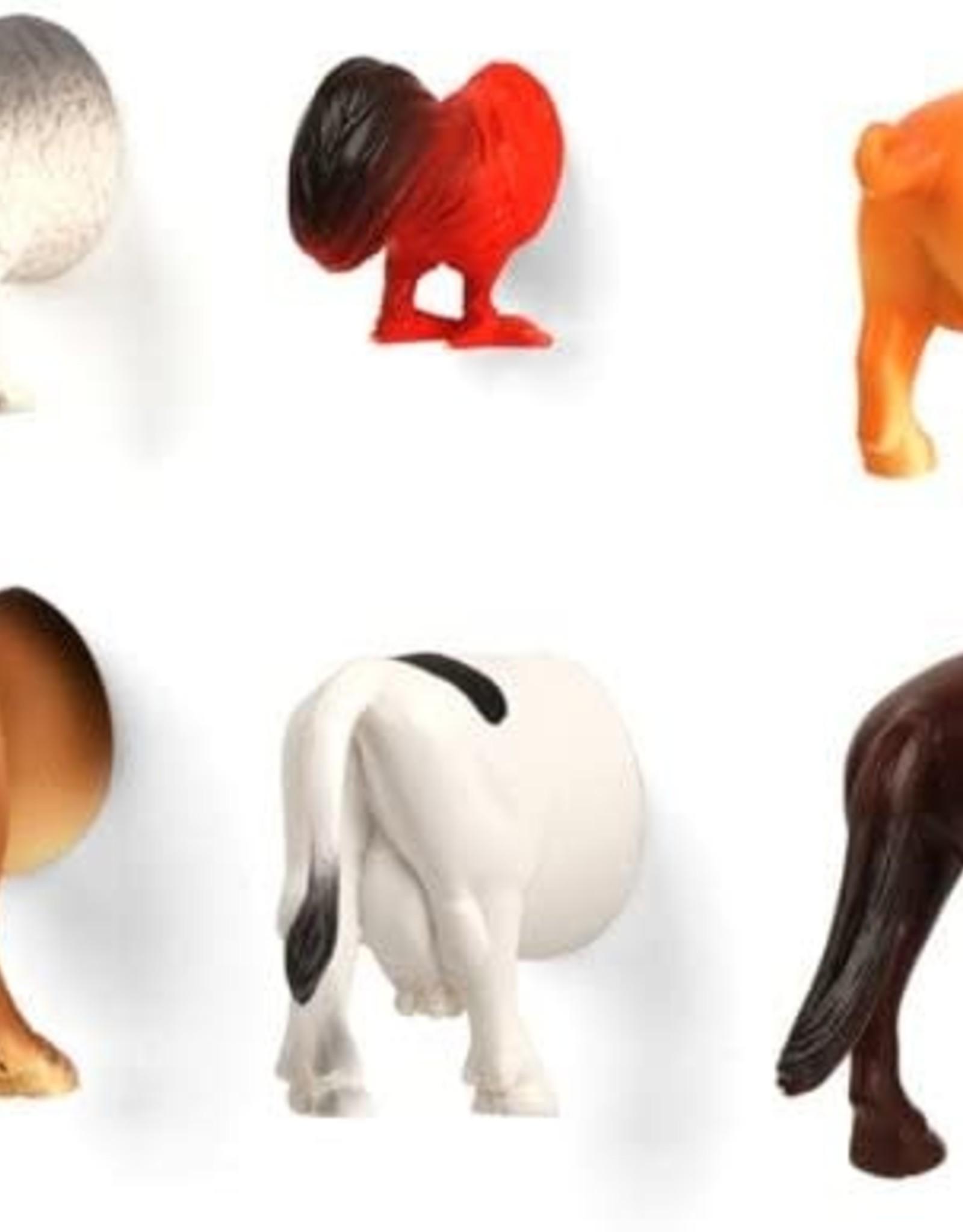 Kikkerland Butt Magnets - Farm Animals