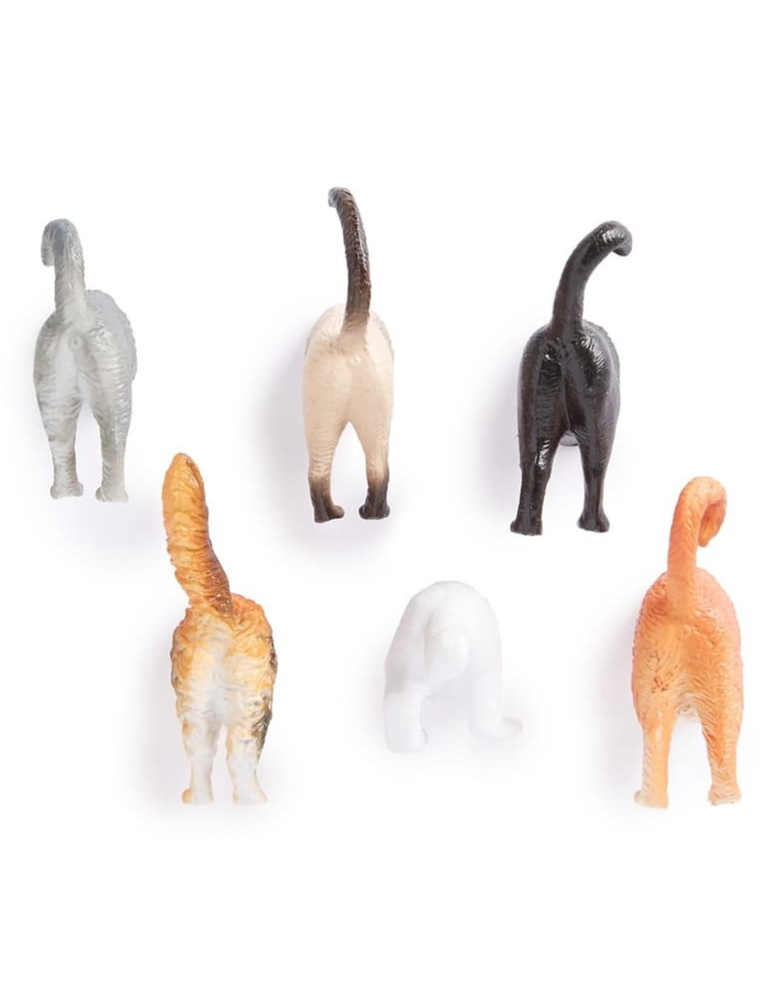 Kikkerland BUTT MAGNETS CAT S/6
