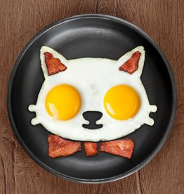 Fred & Friends Funny Side Up - Cat Egg Mold