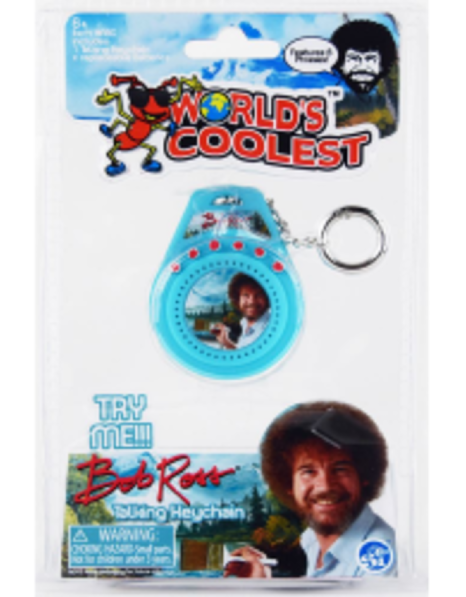 World's Coolest World's Coolest Bob Ross Talking Keychain