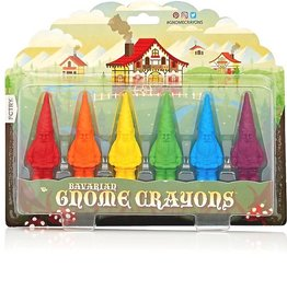 FCTRY Bavarian Gnome Crayons 6pc