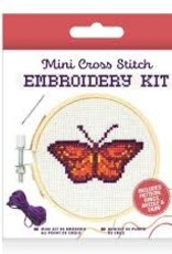 Kikkerland CrossStitch Embroidery Kit - Butterfly