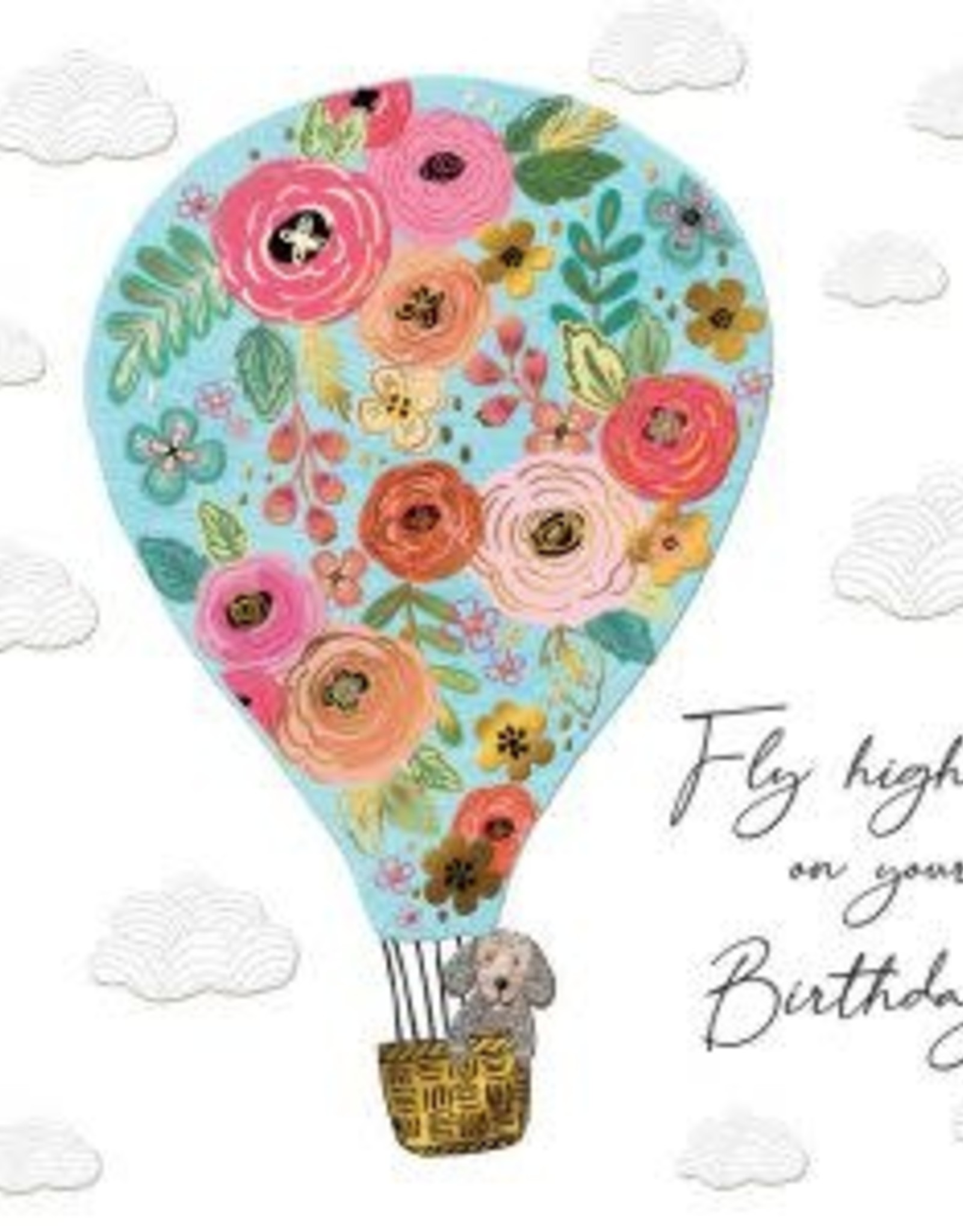 """Incognito Cards SUBLIME-Fly High On Your Birthday-Hot Air Balloon(6""""X6"""")"""