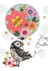 """Incognito Cards SUBLIME-Happy Birthday-Puffin(6""""X6"""")"""