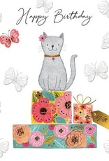"""Incognito Cards SUBLIME-Happy Birthday-Cat And Gifts(6""""X6"""")"""