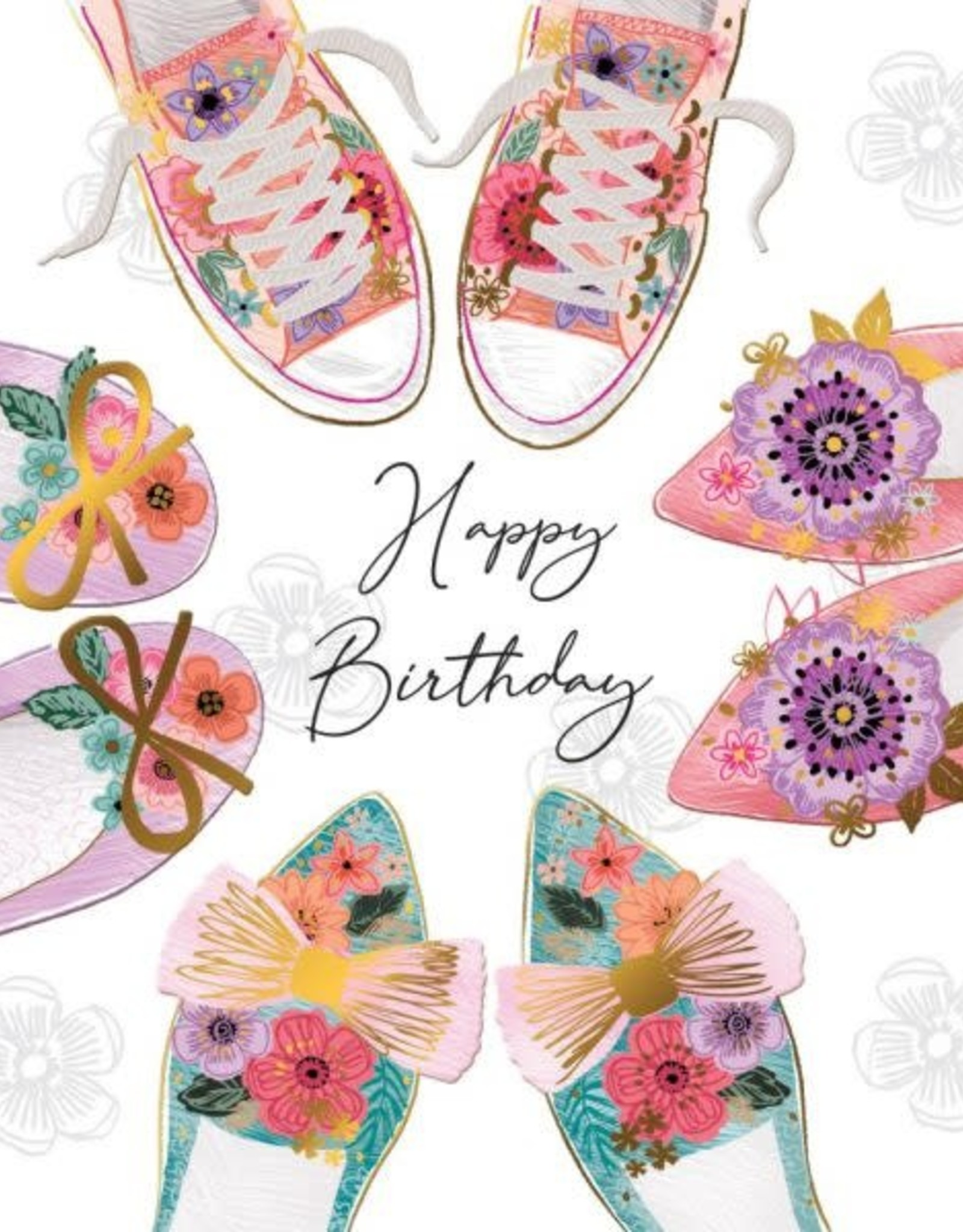 """Incognito Cards SUBLIME-Happy Birthday-Shoes(6""""X6"""")"""