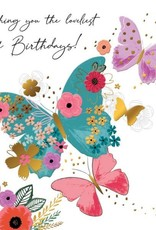 """Incognito Cards SUBLIME-Happy Birthday-Wishing You The Loveliest Of Birthdays(6""""X6"""")"""