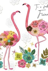 "Incognito Cards SUBLIME-To A Fabulous Friend-Flamingos(6""X6"")"