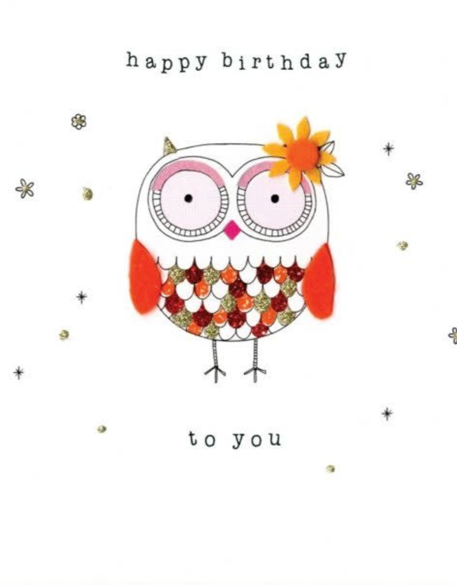 """Incognito Cards FELT-TASTIC!-Happy Birthday To You-Owl(6""""X6"""")"""