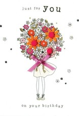 "Incognito Cards FELT-TASTIC!-Just For You On Your Birthday-Flowers(6""X6"")"