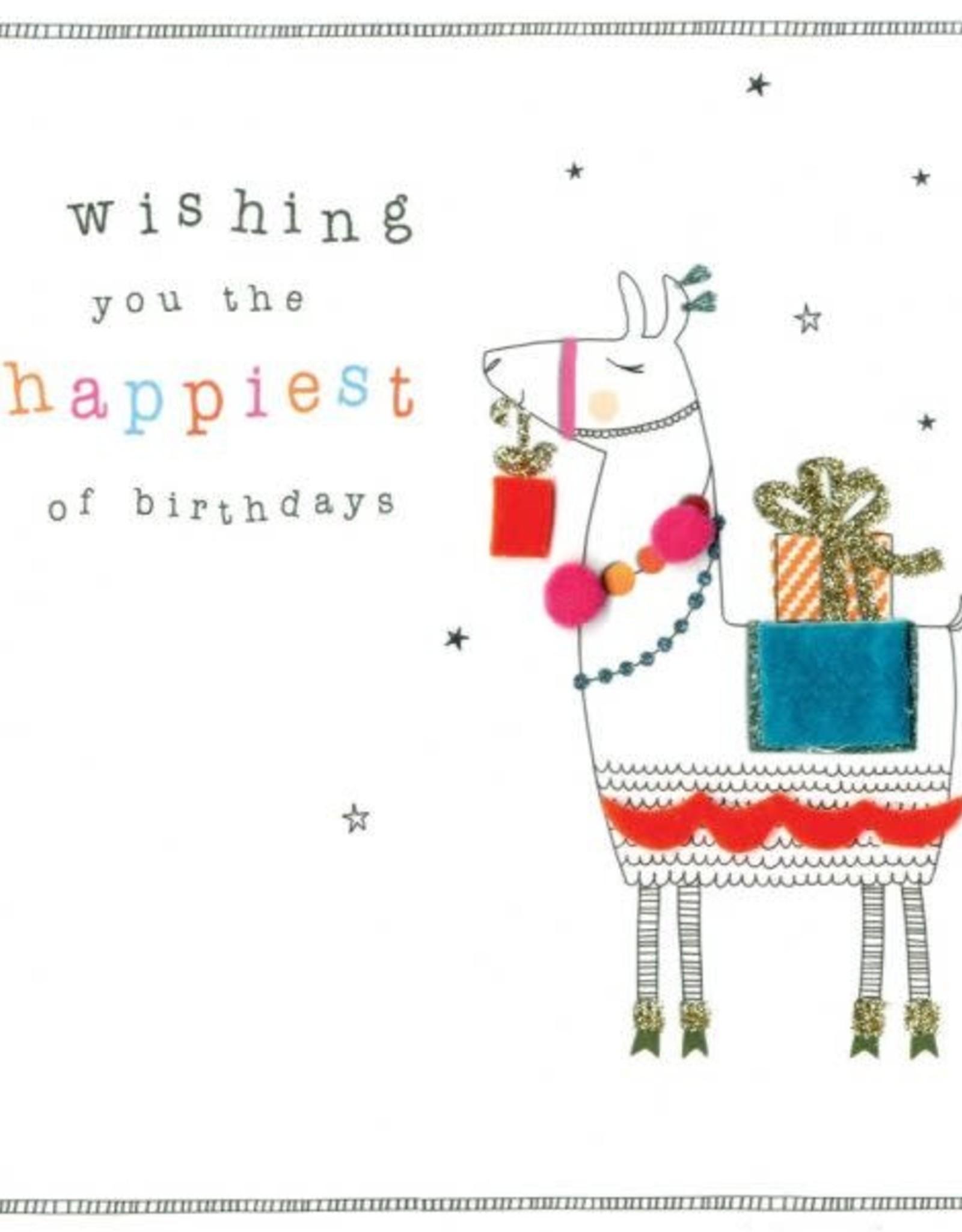"Incognito Cards FELT-TASTIC!-Wishing You The Happiest Of Birthdays-Llama(6""X6"")"