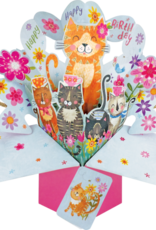 "Incognito Cards Pop Up-Happy Birthday-Cats (8.5""X10"")"
