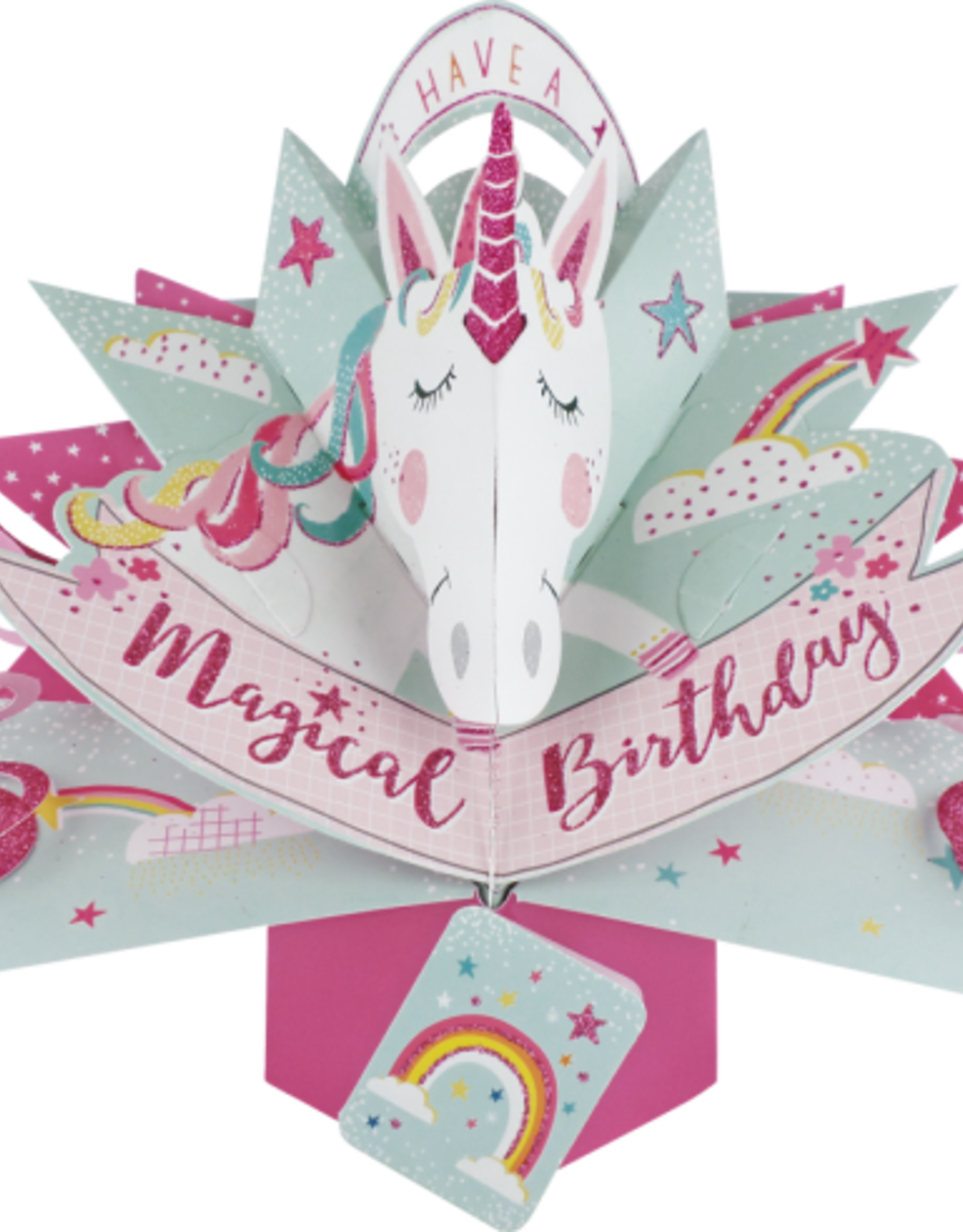 "Incognito Cards Pop Up-Have a Magical Happy Birthday-Unicorn(8.5""X10"")"